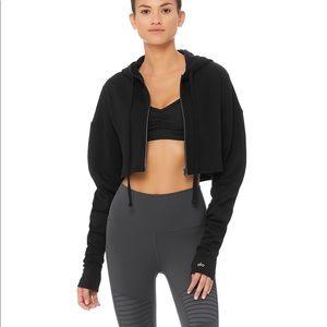 NWT Alo Yoga extreme crop hoodie